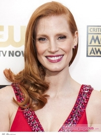 Jessica Chastain's Hairstyle at 2013 Critics Choice Awards