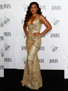 Jessica Mauboy in Alex Perry at the 2012 ARIA Awards