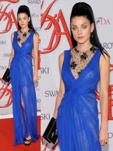 Jessica Stam in Jason Wu Blue Gown