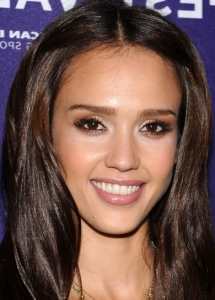 Jessica Alba Bronze Eye Makeup
