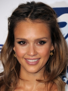 Jessica Alba Chic Two Tone Eye Makeup