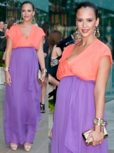 Jessica Alba in DVF Maxi Dress