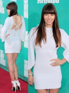 Jessica Biel in Chanel Knit Dress