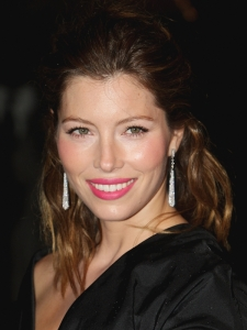 Jessica Biel with Easy Half Updo