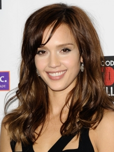 Jessica Alba Chocolate Brown Hairstyle