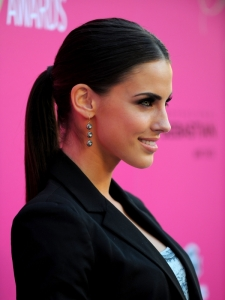 Jessica Lowndes Sleek Low Pony Hairstyle