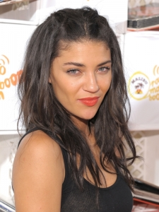 Jessica Szohr Tousled Hairstyle with Braids