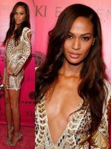 Joan Smalls in Balmain Beaded Dress