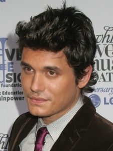 John Mayer with Layered Choppy Hairstyle