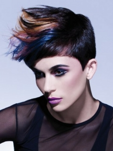 Glam Colorful Hair Highlights