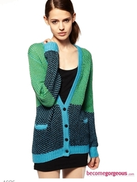 Jonathan Saunders Cardigan in Herringbone Wool