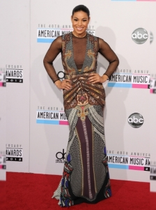 Jordin Sparks in Etro at the 2012 AMAs