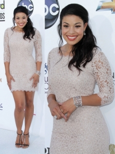 Jordin Sparks in Diane von Furstenberg Lace Dress