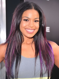 Jordin Sparks Purple Hair Highlights