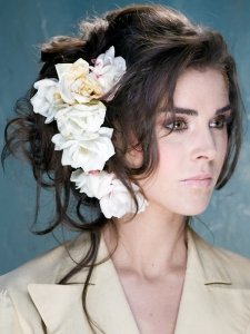 Stylish Updo with Flowers