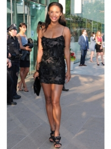 Joy Bryant in Rachel Roy