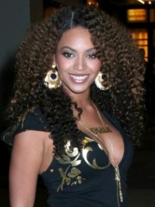 Beyonce with Tight Curly Hairstyle