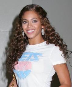 Beyonce with Corkscrew Curls