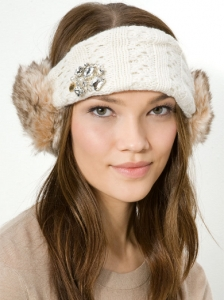 Headband with Angora Earmuffs