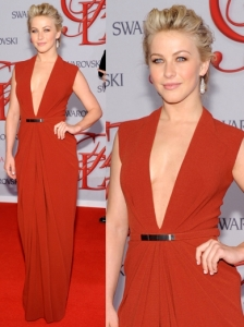 Julianne Hough in Kaufman Franco Red Gown