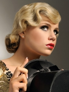 Vintage Finger Waves Updo Hair Style