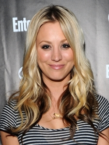 Kaley Cuoco Two Tone Hairstyle