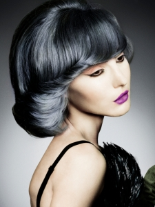 Edgy Blue Hair Color Idea