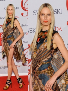 Karolina Kurkova in Print Dress at 2012 CFDA Awards
