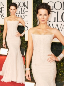 Kate Beckinsale in Roberto Cavalli at 2012 Golden Globes