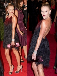 Kate Bosworth in Prada Feather Dress