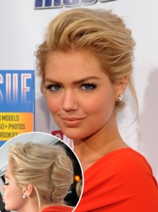 Kate Upton French Twist Updo