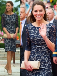Kate Middleton in Erdem Lace Dress