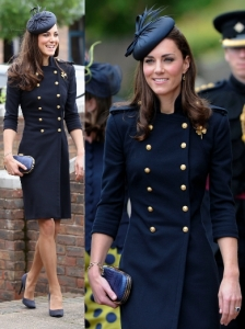 Kate Middleton in McQueen Navy Military Dress