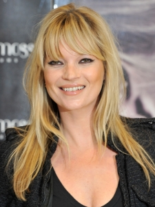 Kate Moss Long Hairstyle with Fringe