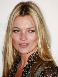 Kate Moss Sleek  Blonde Hairstyle