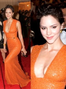 Katharine McPhee in Elie Saab Orange Gown
