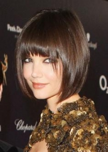 Katie Holmes Bob with Bangs