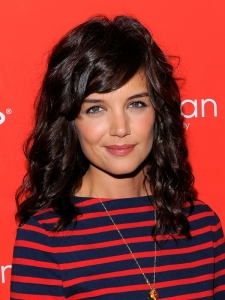 Katie Holmes Shoulder-Length Curly Hair