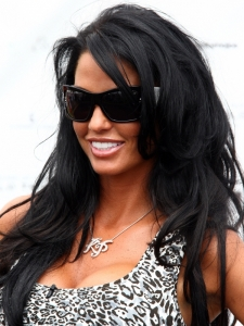 Katie Price Long Brunette Hairstyle