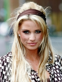 Katie Price Blonde Half Updo Hairstyle
