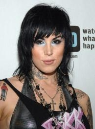 Kat von D Layered Haircut with Bangs