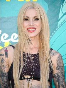 Kat von D with Blonde Hairstyle