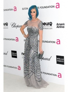 Katy Perry in Blumarine Silver Gown