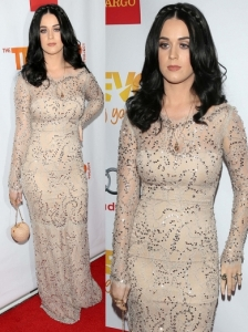 Katy Perry in Marchesa Resort 2013 Beaded Gown