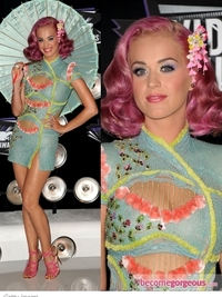 Katy Perry in Atelier Versace Asian Mini Dress