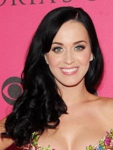 Katy Perry Side Swept Curly Hairstyle