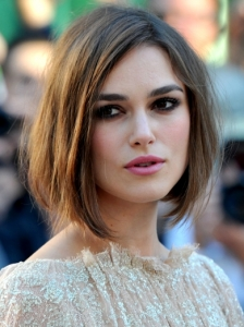Keira Knightley Side-Parted Bob Hairstyle