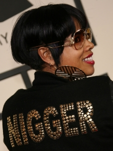 Kelis with Short Stacked Bob Side View