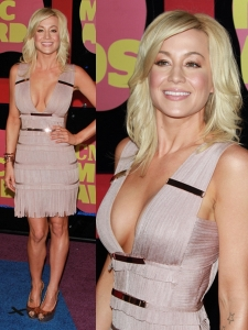 Kellie Pickler in Herve Leger Fringe Bandage Dress