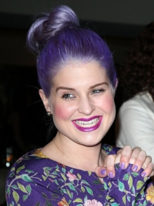 Kelly Osbourne Purple Bun Updo